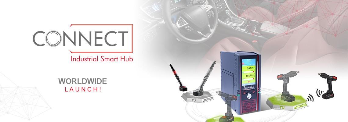 S hrdostí představujeme náš nový produkt Industrial Smart Hub s názvem CONNECT: řešení společnosti Desoutter pro Průmysl 4.0!