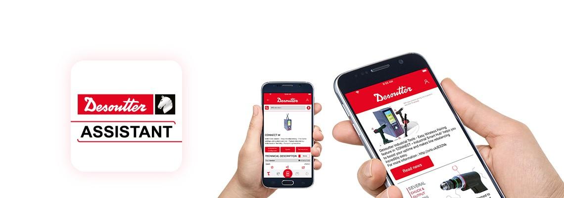 Stáhněte si aplikaci Desoutter Assistant, díky které budete průběžně dostávat informace o našich produktech pro montážní a vrtací aplikace, a se kterou získáte snadný přístup je všem našim službám.