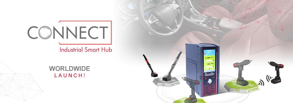 S potěšením představujeme náš nový chytrý průmyslový hub s názvem CONNECT: Desoutter 4.0!