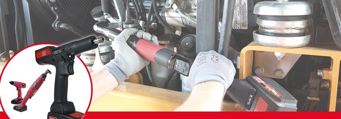 Seznamte se s naší řadou akumulátorového montážního nářadí: samostatné úhlové akumulátorové nářadí / nářadí s pistolovou rukojetí vybavené snímače, akumulátorové utahovačky a ergonomické akumulátorové spojkové nářadí