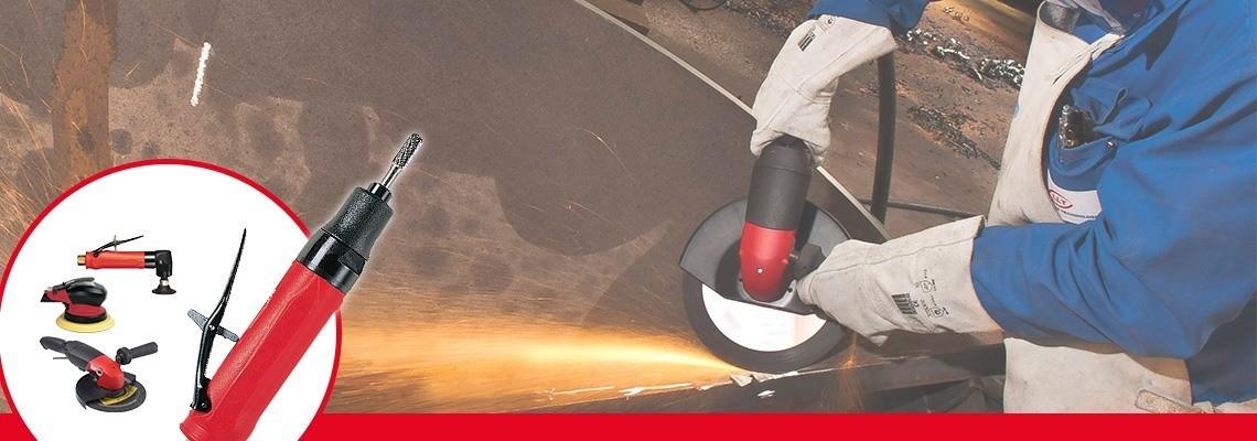 Seznamte se s bruskami s kleštinovým sklíčidlem od Desoutter Industrial Tools. Kompletní řada pneumatických brusek přispívajících ke zvýšení produktivity. Vyžádejte si cenovou nabídku!