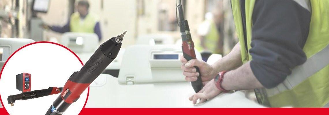Seznamte se s řadou ERS zahrnující elektrické šroubováky navržené firmou Desoutter Industrial Tools k použití v automobilovém nebo leteckém průmyslu. Vyžádejte si cenovou nabídku nebo předvedení!