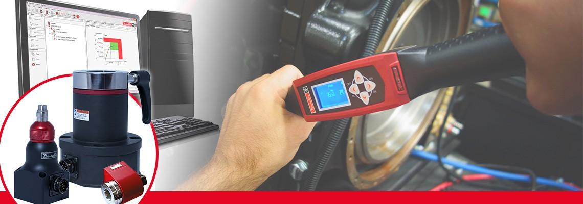 Firma Desoutter Industrial Tools vyvinula kompletní řadu rotačních snímačů utahovacího momentu určených k měření výstupního utahovacího momentu jakéhokoliv bezrázového montážního nástroje.