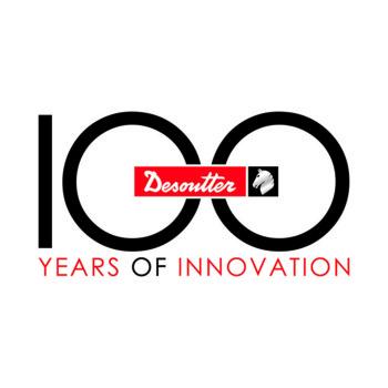 Logo připomínající 100. výročí založení společnosti Desoutter